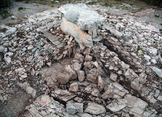 Dolmen Prunarède fouilles © Philippe Galant