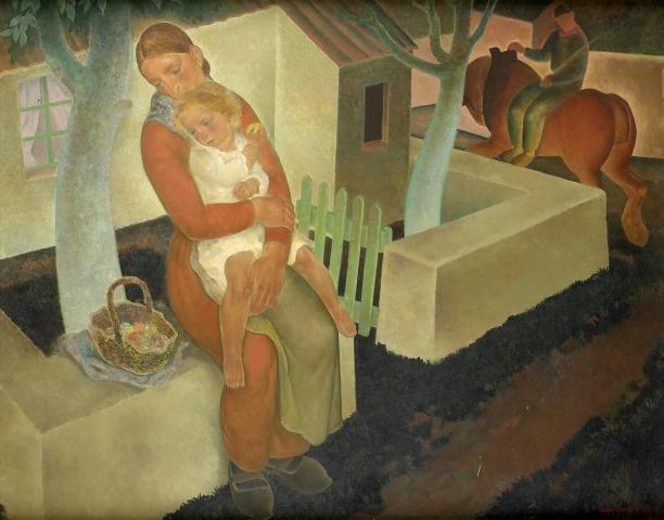 Anto Carte, Maternité © Collections du musée d'Ixelles - Bruxelles