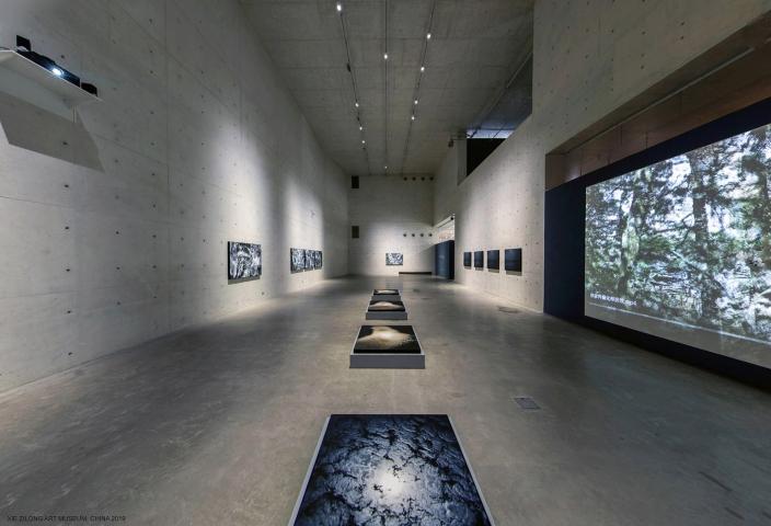 Une des dernières expositions d'Eric Bourret, au Xie Zilong Art Museum, Chine 2019 © Eric Bourret
