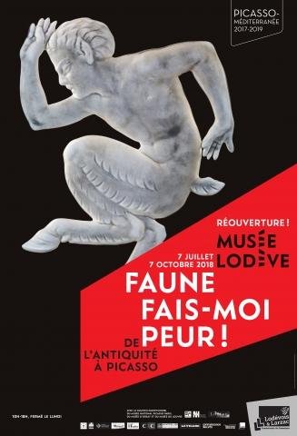 """Affiche exposition """"Faune fais-moi peur !"""" © Musée de Lodève"""