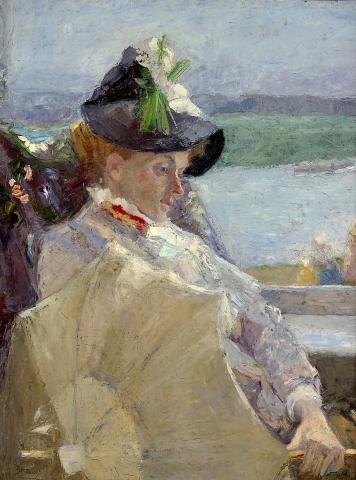 Jan Toorop, Dame à l'ombrelle © Collections du musée d'Ixelles - Bruxelles