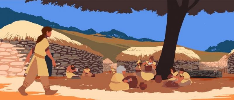 Famille néolithique © Les Fées spéciales